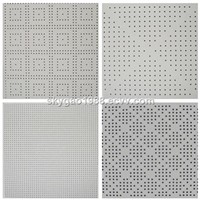 Round Or Square Hole Perforated Gypsum Board for hot sale
