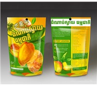 400G Mango Dried Fruit Pouch,Laminated Stand up Zipper Pouch for Mango,Ziplock Food Pouch
