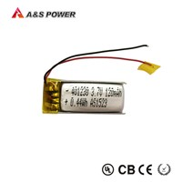 Hot sales 401230 3.7v 120mah lithium polymer battery for Bluetooth headsets