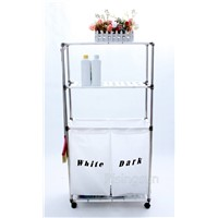 Two Units Laundry Basket Shelf