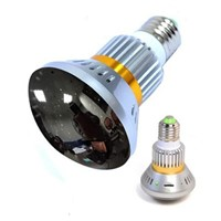 EAZZYDV Wirelss Bulb-shaped Hidden Camera with Invisible Light and Mirror Cover