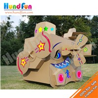 Plane House Cardboard Colour In Cubby Playhouse For Kids - Shark Plane