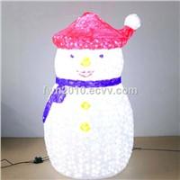 H:1.8m W:1.1m 3d outdoor fat snowman for Xmas decorative