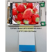 MCU Interface TFT LCD Module with 1.8 Inch Size (LMT018)