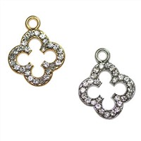 Bra pendants, metal alloy with rhinestones, various colors and designs are available