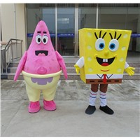 SpongeBob SquarePants and Patrick Star Mascot Costume Hand-made High Quality Costume Party Supply