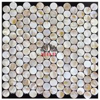 wholesale circle wall decoration shell slab villa
