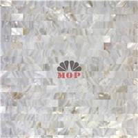 seamless white wall mosaic shell board bars