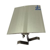 Interior wall aluminum expansion joint cover with clips