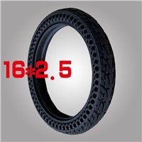 16*2.5 Inch Air Free Solid Colorful Electric Bike Tire