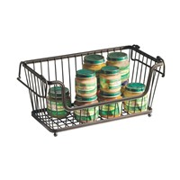 Large Rectangular Stacking Wire Basket, Storage Basket