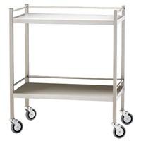 Two Shelf Trolley with Rails