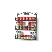 Wall Mounted Spice Rack for Kitchen, Metal Scroll Wire