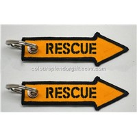 Rescue Arrow Aviation Embroidered Keychain Airplane Aircraft