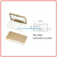 Square 3 color eyeshadow palette case eyeshadow case