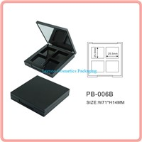 Square 4 colors eyeshadow palette with magnet, eye shadow case