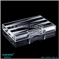 Wholesale Transparent Lucite Backgammon With White&Black Triangle