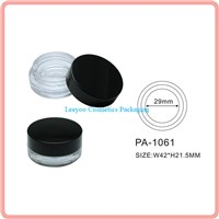 Empty eyeliner cream jar, cosmetic jar, plastic jar