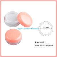 Empty loose powder jar with sifter, cosmetic loose powder jar