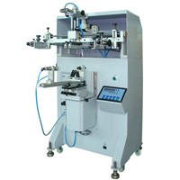 HS-400E Pneumatic cylindrical silicone bracelet screen printing machine