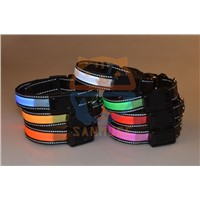 Solar+USB Pet Led Collar ,solar dog collar