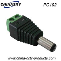 Power Connector Male DC Plug with Screw Terminal 2.1*5.5mm