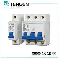 1P,2P,3P 400v DZ47-63(C20) mini circuit breaker mcb
