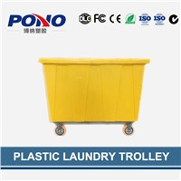 China professional custom designed plastic laundry trolley for linens collecting&distributing