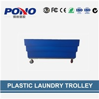 Pono9009 plastic laundry trolley with large storage space and heavy loading capacity