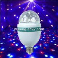 Wholesales RGB 3W Full Color Rotating Bulb Christmas Decoration Lights