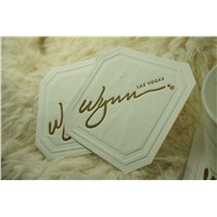 advertised hot stamping absorbent paper coaster