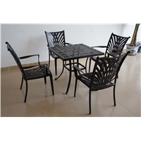 terrace cast aluminum dining table and chairs outdoor furniture