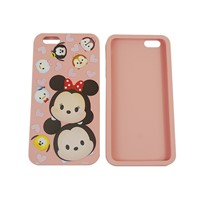 Cartoon 3d embossed Micky customize print silicone phone case