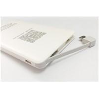 Ultra-Thin Leather Card Polymer Power Bank 4000mAh