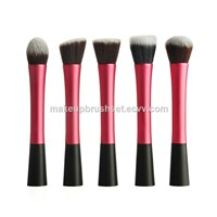 10 Piece Toothbrush Makeup Brush Set with Soft Oval Toothbrush Design with Gift Box