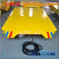 Warehouse Workpiece Handling Mobile Cable Powered Electric Rail Cart