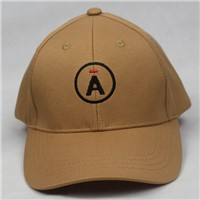 100%cotton baseball hat embroidery A Khaki