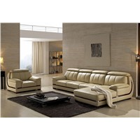 Modern Living Room Leather Corner Couches