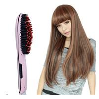 ceramic brush fast hair straightener comb brush