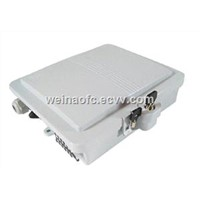12 Cores FTTH Fiber Distribution Box Plastic Wall or Pole Mount Patcn Panel