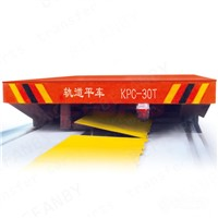 Low Price Heat Resistant Four Wheels Sliding Wire Powered Rail Transfer Cart