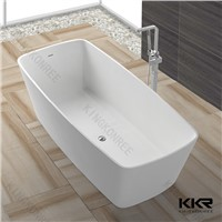Custom Size Small Bathroom Solid Surface Corner Bathtub