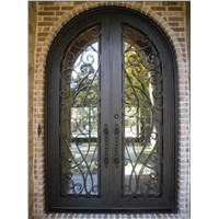 Wrought iron forged iron doors