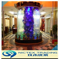 10mm to 350mm customized transparent round acrylic fish aquarium tank