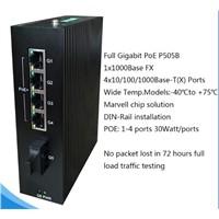 4x10/100/1000BaseT(X) PoE Ports & 1x1000BaseX Port Gigabit Switch P505B