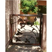 wrought iron garden pedestrain gate