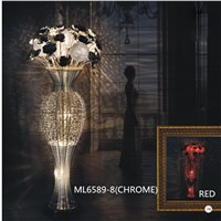 aluminum decorative modern flower vase floor lamp