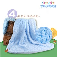 2016 New rose fleece blanket baby soft blanket whole from China