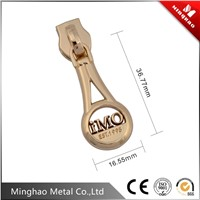 High quality gold coil zipper puller for bag parts