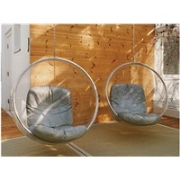 Hot Fiberglass Scoop Balloon Hanging Chair LAN013